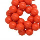 Acrylic Beads (12 mm) Red Orange (54 pcs)