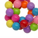 Acrylic Beads (12 mm) Mix Rainbow (54 pcs)