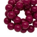Acrylic Beads (12 mm) Dark Fuchsia (54 pcs)