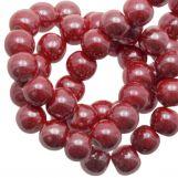 Ceramic Beads (6 mm) Red (25 pcs)