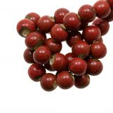 Ceramic Beads (6 mm) Spotted Red (15 pcs)