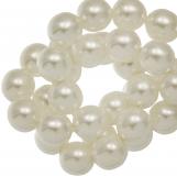 DQ Glass Pearls (8 mm) Broken White Shine (75 pcs)