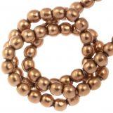 DQ Glass Pearls (2 mm) Antique Bronze Gold (150 pcs)