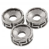Metal Beads (7.5 x 3 mm) Antique Silver (25 pcs)