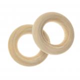 Natural Wood Ring (24 x 6 mm, inner diameter 12 mm) 20 pcs