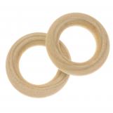 Natural Wood Ring (30 x 6 mm, inner diameter 17 mm) 20 pcs