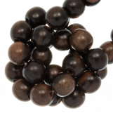 Wooden Beads Natural Look (6 mm) Ebony (75 pcs)