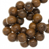 Wooden Beads Natural Look (10 mm) Robles (41 pcs)