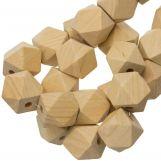 Natural Wood Beads (19 mm) 25 pcs