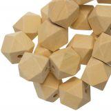 Natural Wood Beads (22 mm) 25 pcs