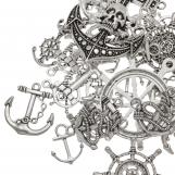 Assortment - Charm Anchor (various sizes) Antique Silver (40 pcs)