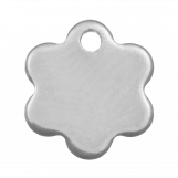 Stainless Steel Charm Flower (9 x 8 mm) Antique Silver (20 pcs)