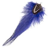 Feathers (12 cm) Boho Royal Blue (10 pcs)