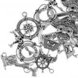 Assortment - Charm Pirate (various sizes) Antique Silver (20 pcs)