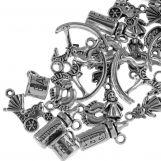 Assortment - Charm Baby (various sizes) Antique Silver (30 pcs)