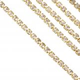 Rhinestone Chain (2.4 mm) Gold (2 Meter)