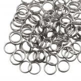 Stainless Steel Double Loops Split Rings (8 x 0.7 mm) Antique Silver (100 pcs)