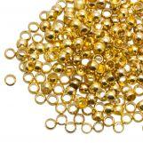 Crimp Beads (hole size 1.2 mm) Gold (730 pcs)