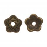 Beadcap (6 x 1.5 mm) Bronze (25 pcs)