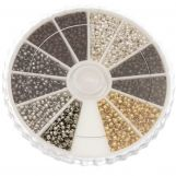 Assortment Box - Crimp Beads (Innersize 1 mm) Mix Color (3000 pcs)