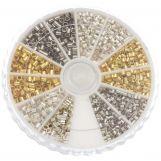 Assortment Box - Crimp Beads (Innersize 1 - 1.5 mm) Mix Color