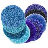 Bead Kit - Seed beads (2 mm / 9 x 50 grams) 'Mix Color Blue'