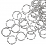 Jump Ring (8 mm) Antique Silver (100 pcs) Thick 1.2 mm