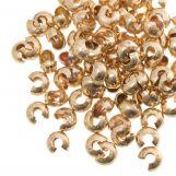 Crimp Beads Covers (5 mm) Gold (25 pcs)