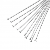 Head Pins (50 mm) Antique Silver (100 pcs) Thick 0.6 mm