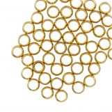 Stainless Steel Crimp Beads (hole size 0.5 mm) Gold (50 pcs)