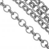 Stainless Steel Rolo Chain (3 x 1 mm) Antique Silver (1 Meter)