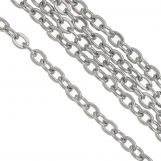 Stainless Steel Rolo Chain (2.4 x 1.9 mm) Antique Silver (10 Meter)