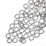 Stainless Steel Jump Rings (4 mm) Antique Silver (100 pcs) Thickness 0.8 mm