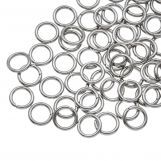 Stainless Steel Jump Rings (6 mm) Antique Silver (100 pcs) Thickness 0.8 mm