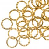 Stainless Steel Jump Rings (6  mm) Gold (50 pcs) Thickness 0.8 mm
