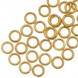 Stainless Steel Jump Rings (4 mm) Gold (50 pcs) Thickness 0.8 mm