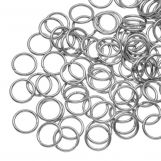 Stainless Steel Jump Rings (8 mm) Antique Silver (100 pcs) Thickness 1 mm