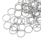 Stainless Steel Jump Rings (10 mm) Antique Silver (100 pcs) Thickness 1 mm