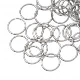 Stainless Steel Jump Rings (12 mm) Antique Silver (10 pcs) Thickness 1 mm