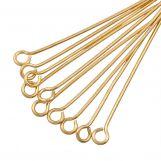 Eye Pins (35 mm) Gold (25 pcs) Thick 0.6 mm
