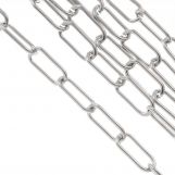 Stainless Steel Rolo Chain (17 x 7 mm) Antique Silver (2.5 Meter)