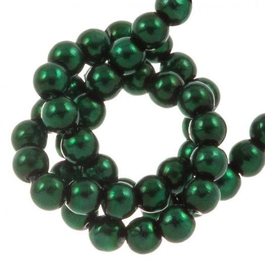 DQ Glass Pearls (2 mm) Deep Emerald (150 pcs)