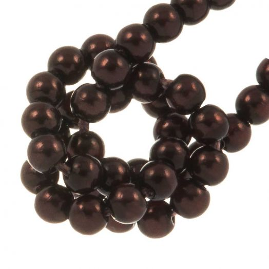 DQ Glass Pearls (2 mm) Dark Sienna (150 pcs)