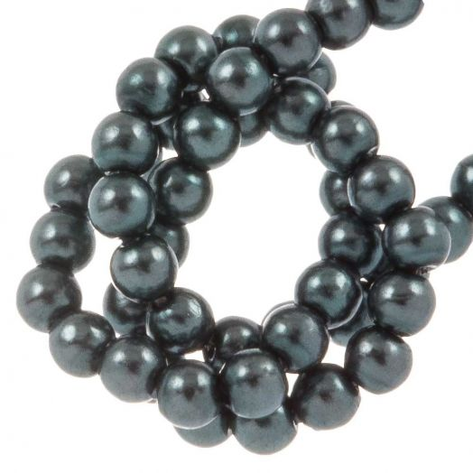 DQ Glass Pearls (2 mm) Dark Cyan (150 pcs)