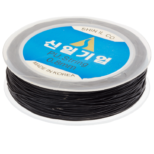 Top Quality Elastic Thread (0,8 mm) Black (35 Meter)