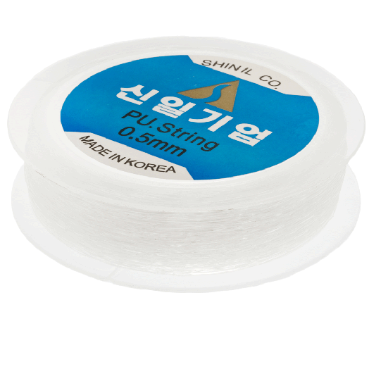 Top Quality Elastic Thread (0.5 mm) Transparant (90 Meter)