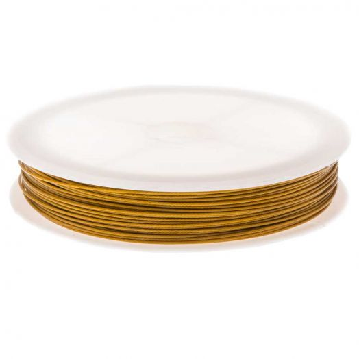Tiger Tail Wire (0.7 mm) Gold (25 meter)