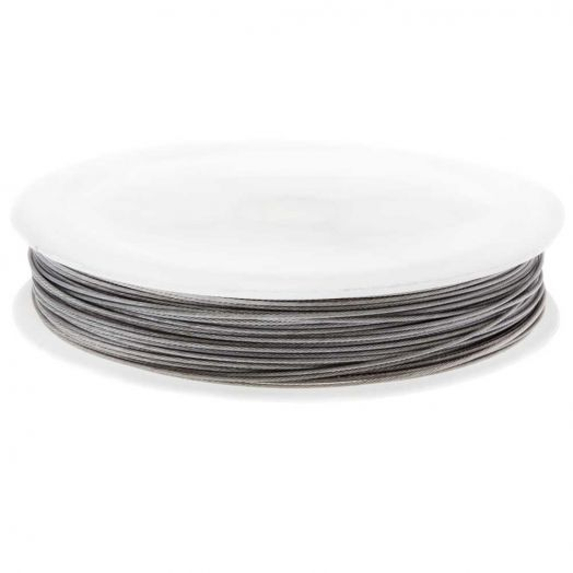 Tiger Tail Wire (0.7 mm) Silver (25 meter)