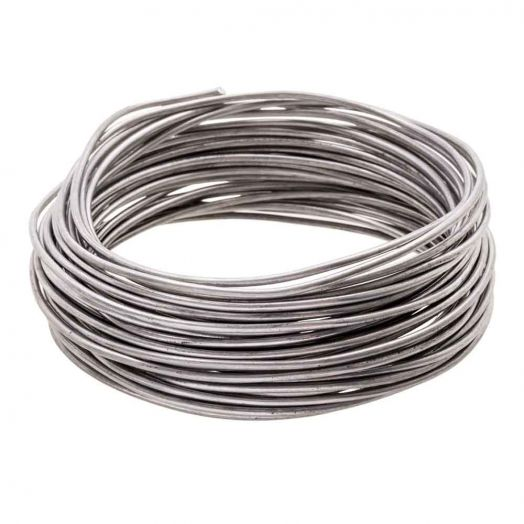 Aluminium Wire (2 mm) Antracite (10 Meter)