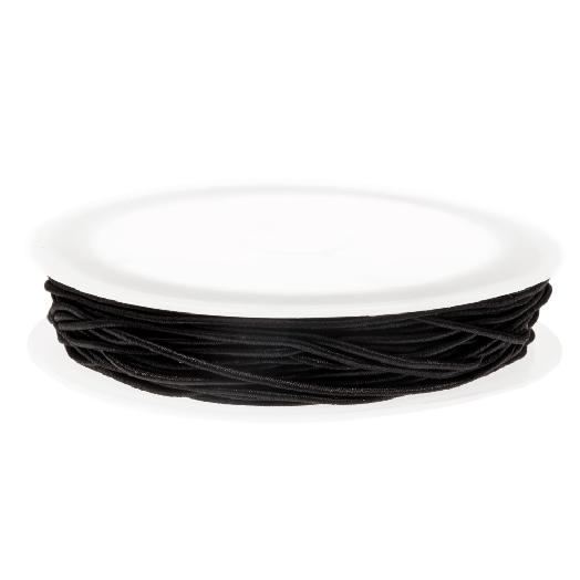 Elastic Thread (0.6 mm) Black (19 Meter)